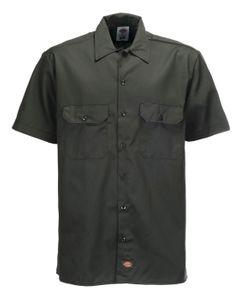 Dickies Short Sleeve Slim Work Shirt - Olive Green