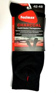 Feelmax Charcoal terveyssukat - Tummanharmaa