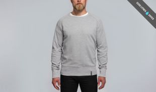 Pure Waste Sweater Raglan Grey Melange