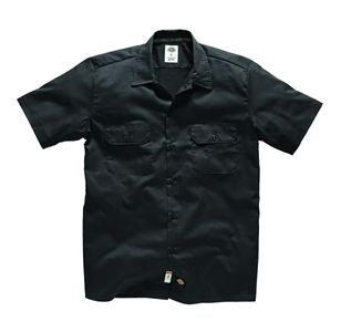 Dickies Short Sleeve Slim Work Shirt - Black