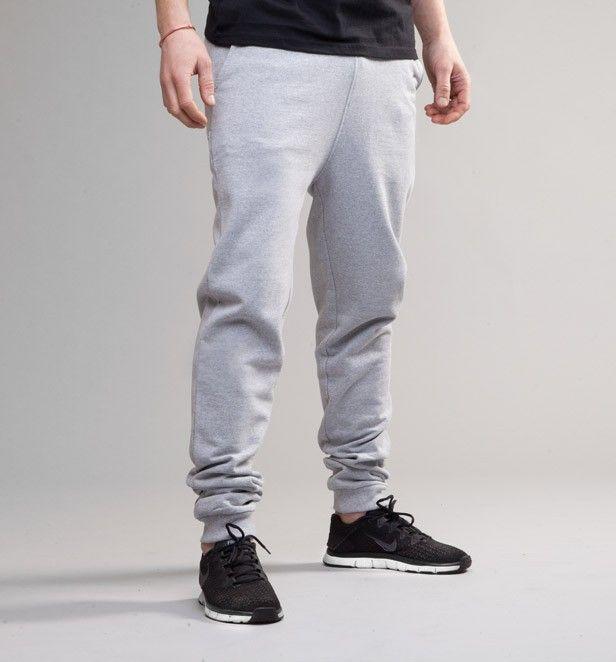 Pure Waste Men's Sweatpants Verkkarit - Grey Melange