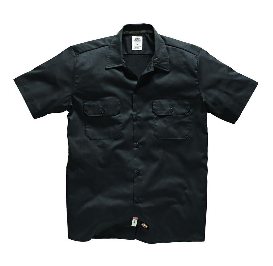 Dickies Short Sleeve Slim Work Shirt - Black
